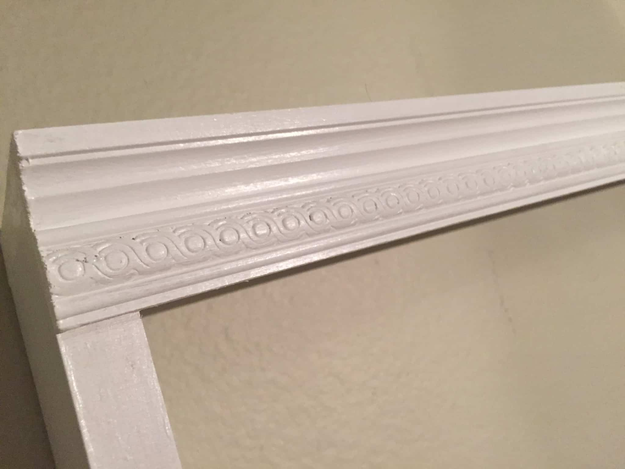 Molding detail on DIY Platter Storage/Display Rack
