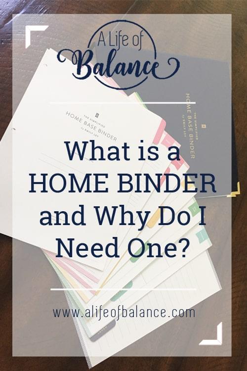 Home Binder | Organization