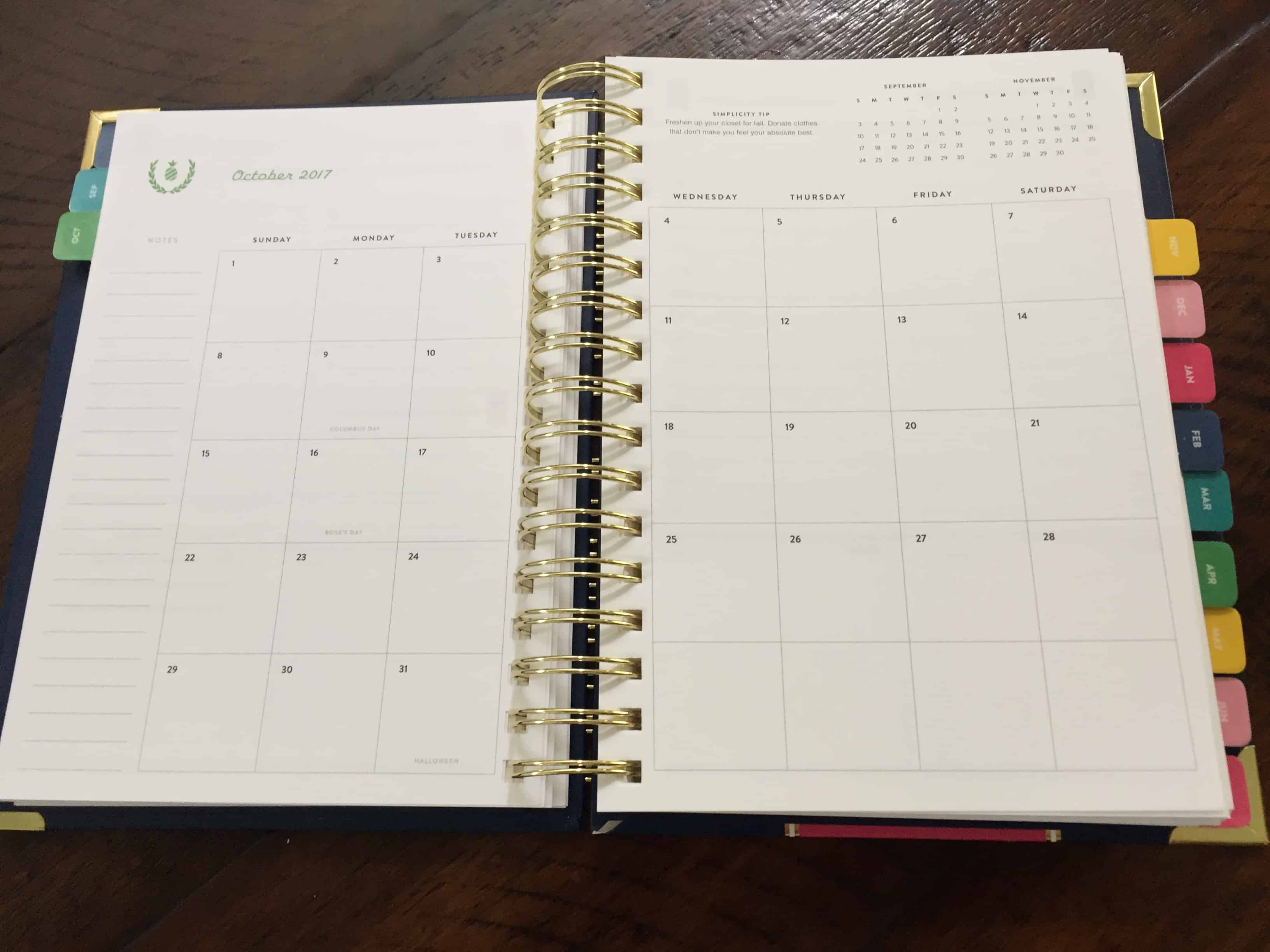 Monthly Planner Page | Emily Ley | Simplified Planner