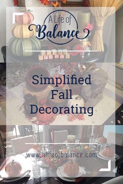 Simplified Fall decorating that you can do even if your short on time and energy. From deciding where to decorate to how to curate a decorations collection without spending a fortune each year, I cover the entire process. I have multiple chronic illnesses and was able to put these decorations up in a few hours a day over about a week without totally exhausting myself. That means you can do it too. I've even given you web resources to purchase similar products so you can do an exact copy if that's what you want. Read on to see how to maximize your results while minimizing your time, energy and money.