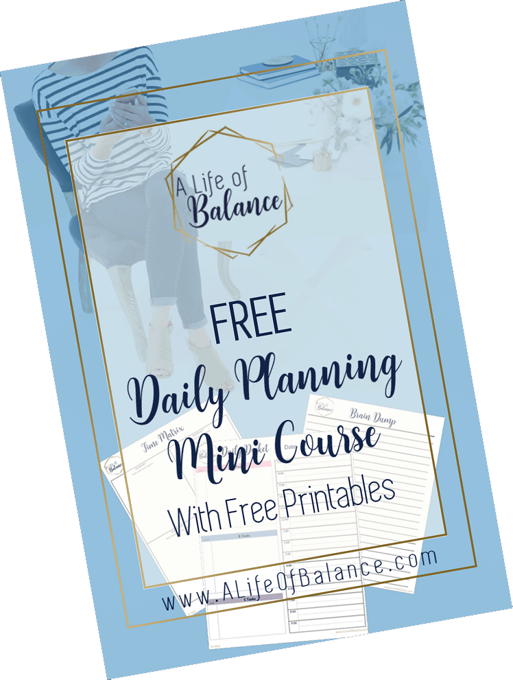 Daily Planning Mini Course and Free Printables