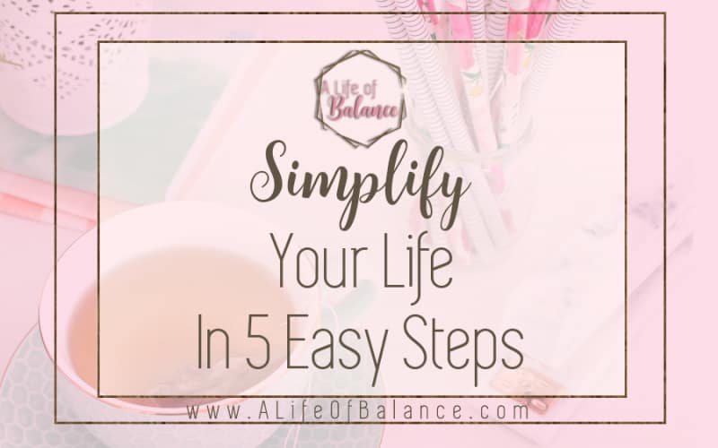 Simplify your life to give yourself immediate benefits. It decreases stress by taking worry out of the equation. Once you learn to let go of stuff, you start to recognize the things that have true value to you. Relationships thrive more readily and often you find yourself struggling a lot less financially.