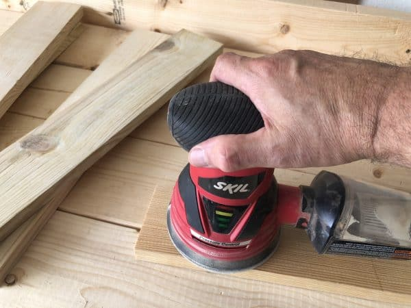 Sanding boards for grill tools organizer