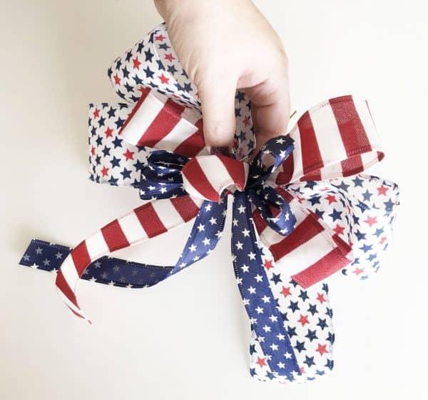 Patriotic ribbon bow