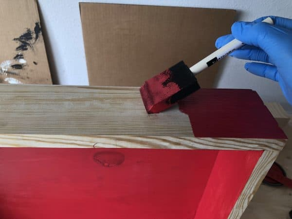 Painting the grill tools organizer