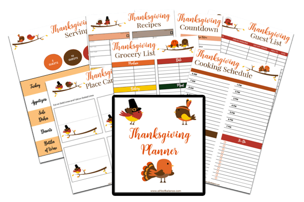 Graphic of Thanksgiving Planner