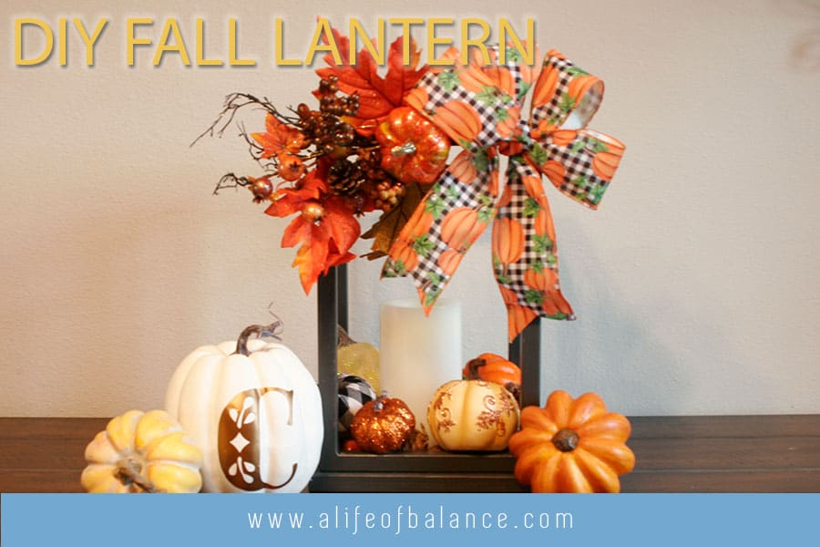 DIY Fall Lantern Decoration for Entryway or Front Porch