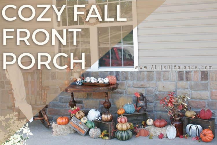 Cozy Fall Front Porch Reveal