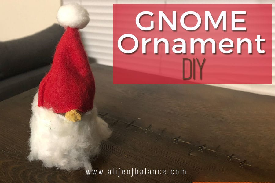 Gnome Ornament from a Recycled Furniture Leg