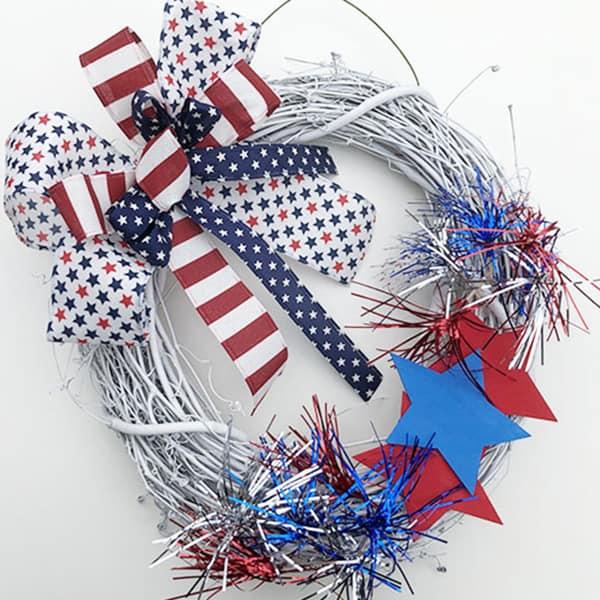 Festive patriotic wreath