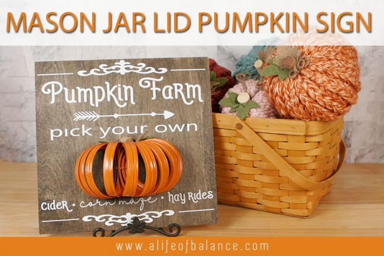 Mason Jar Lid Pumpkin Farm 3-D Sign