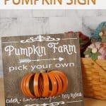 Mason Jar Lid Pumpkin Farm 3-D Sign - alifeofbalance.com