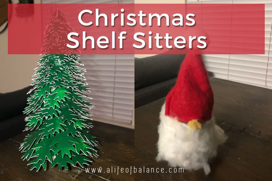 Christmas Tree Shelf Sitter from Old Furniture Leg