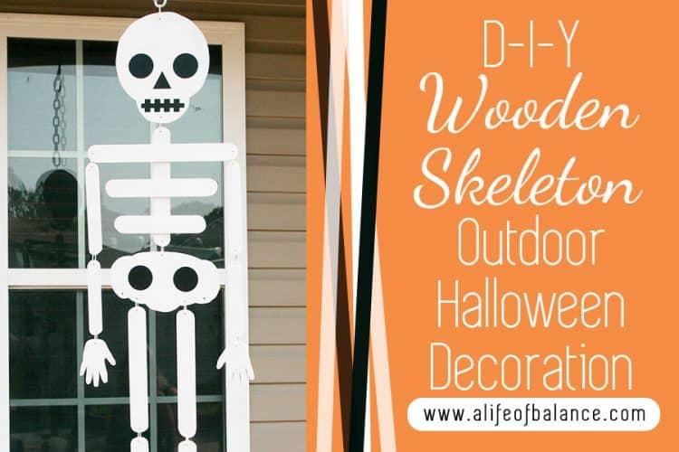 DIY Wooden Skeleton Outdoor Halloween Decoration