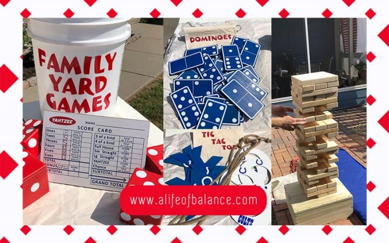 photo of yard games made from wood. - www.alifeofbalance.com